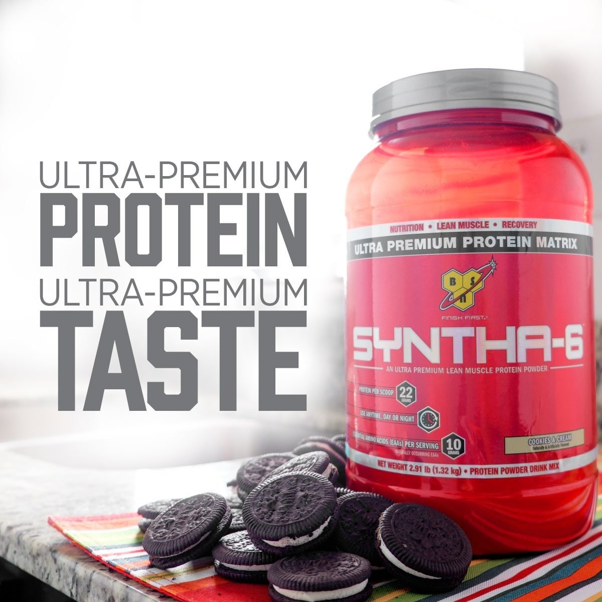 BSN Syntha 6 Protein-5 Lbs(Cookies And Cream)