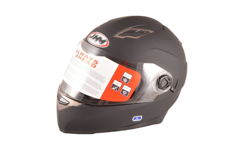 JHM Helmet- Matte Black (Black,XL)