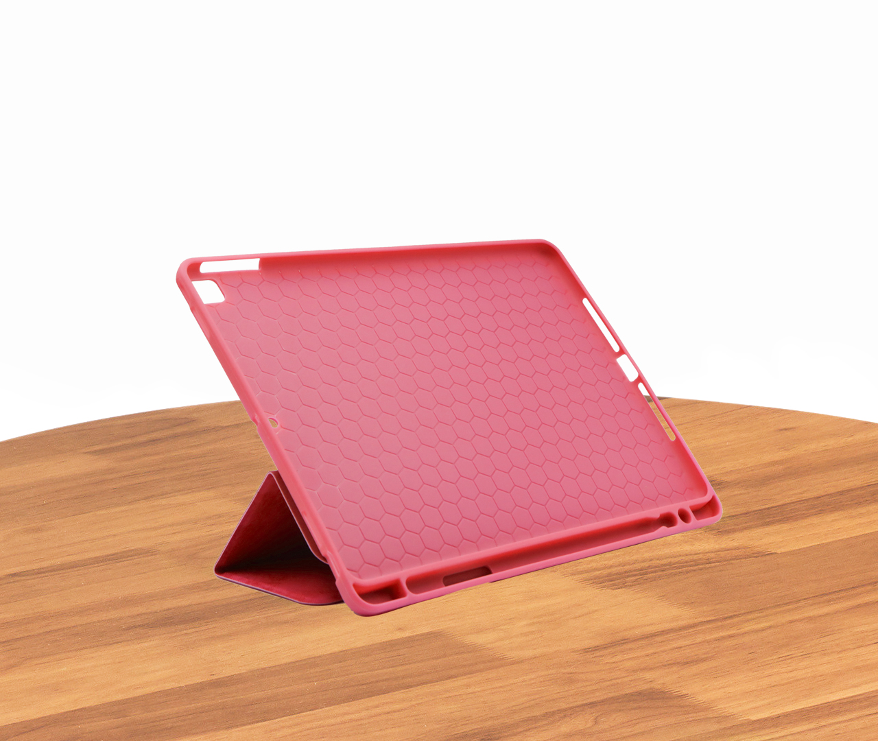 IKAKU Pen Slot Series Flip Cover For Ipad Air 3 / A2123 / A2152 / A2153 / A2154 (Red)