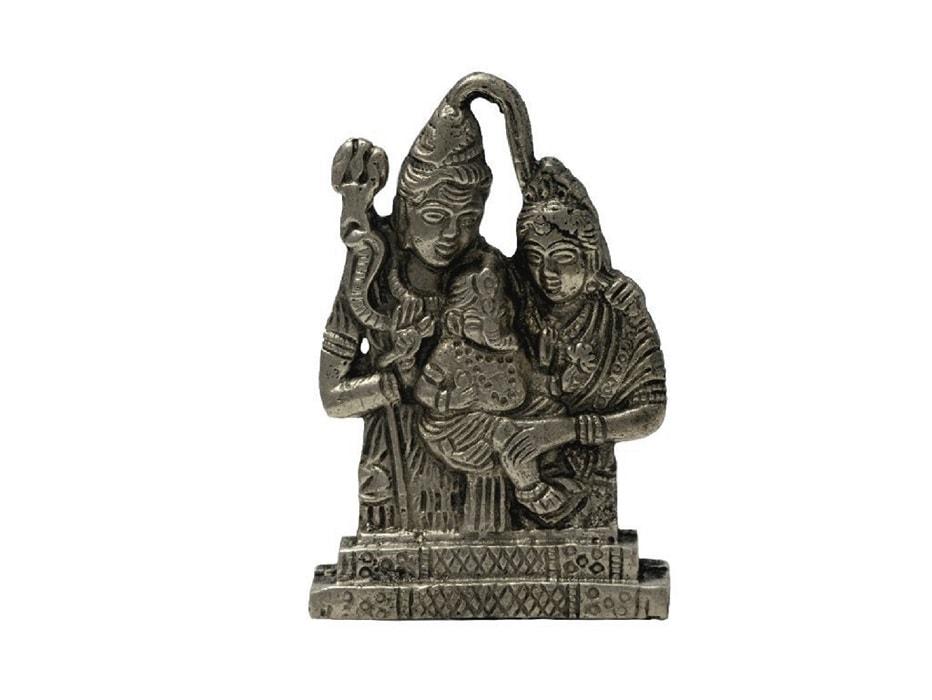 Numeroastro Shiv Parivar Idol In Panchdhatu (6 Cm) (1 Pc)