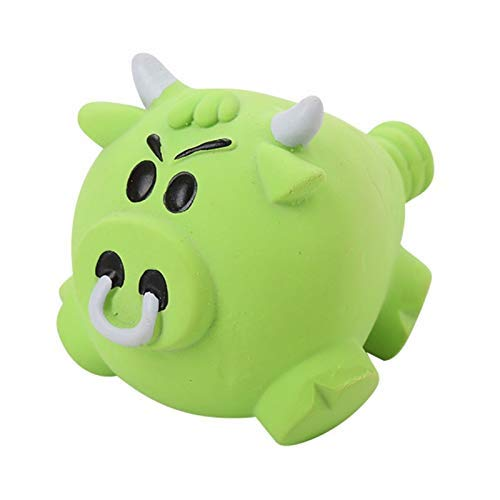 Pets Empire Pet Dog Natural Latex Chew Toys Big Pig Shaped Squeaky Toy Puppy Durable Realistic Animals Toys For Solving Boredom (Cattle)