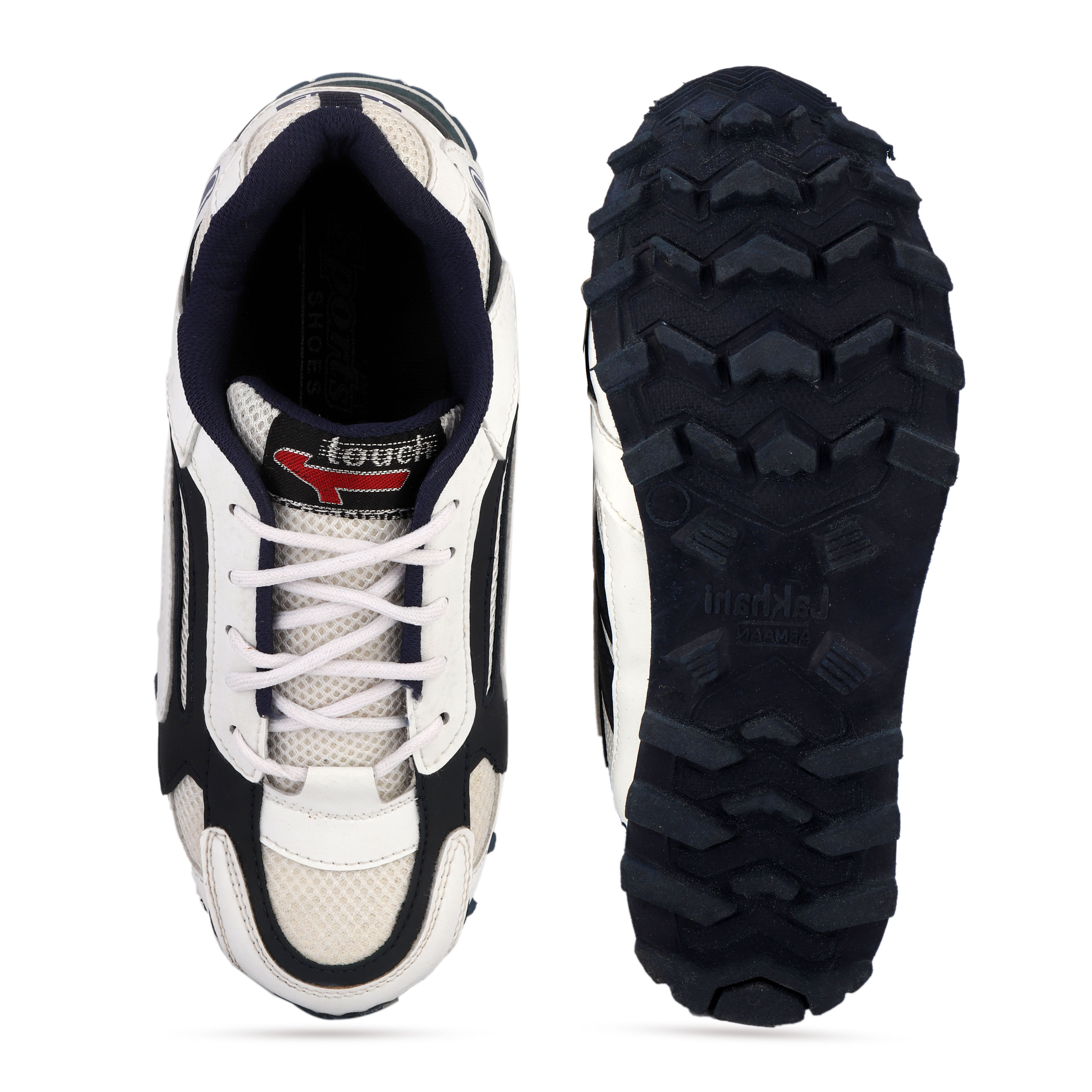 BRIFAR COMFORTABLE & TRENDY SPORTS SHOES ARE RELIABLE FOR ANY BFS011WHT (WHITE, 6-9, PAIR'S)
