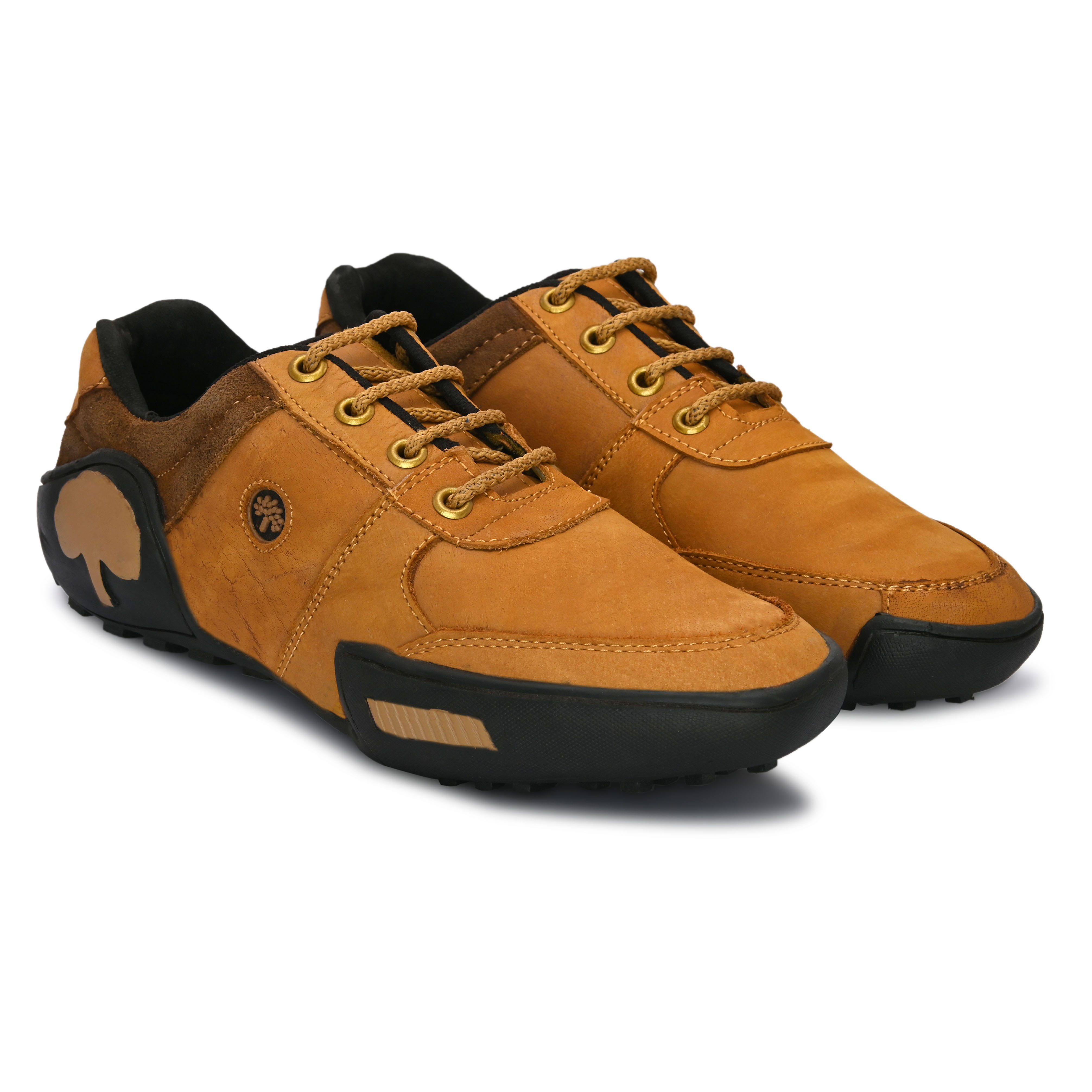 BRIFAR COMFORTABLE & TRENDY FULL LEATHER CASUAL SHOES ARE RELIABLE FOR ANY BFLT011TAN (TAN, 6-9, PAIR'S)
