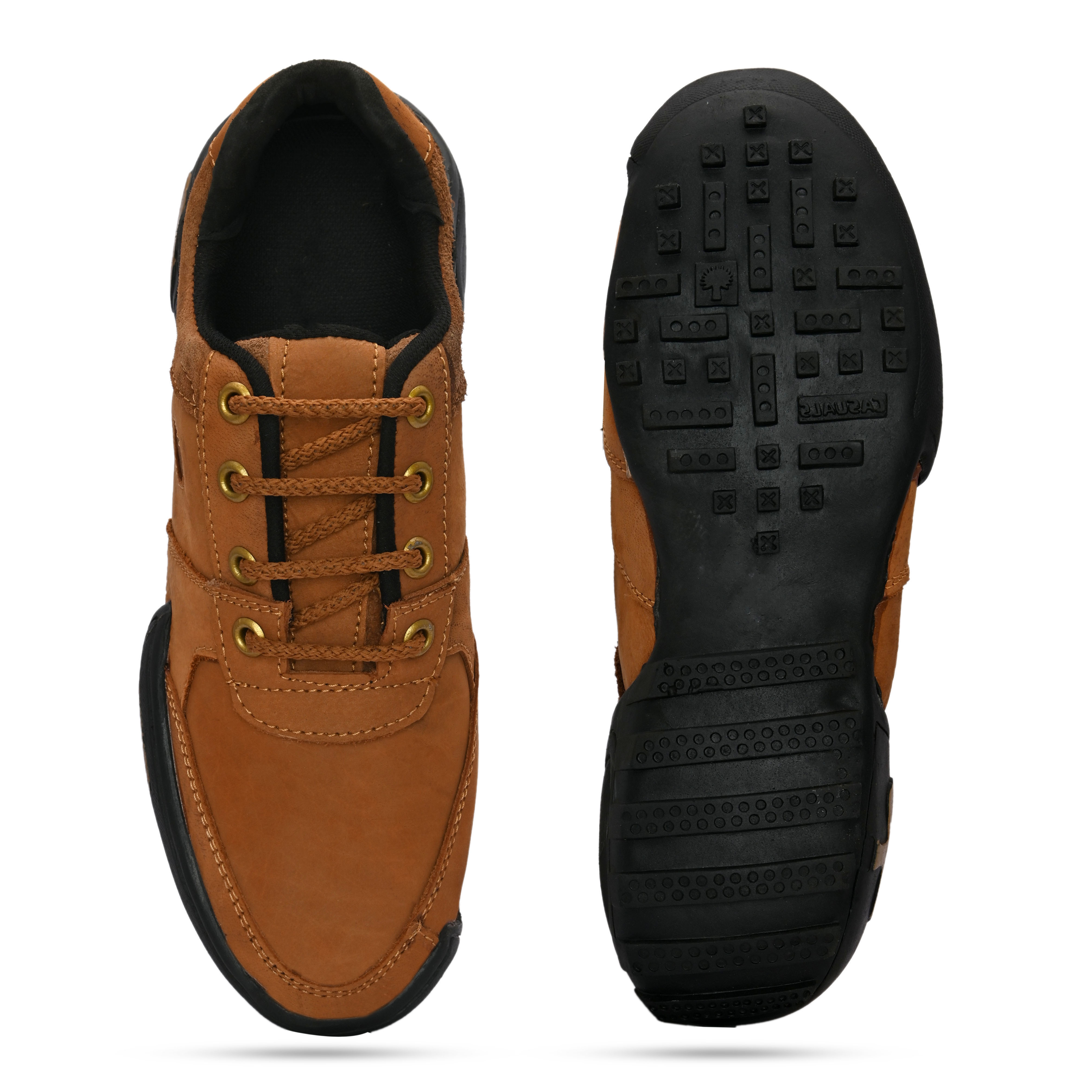 BRIFAR COMFORTABLE & TRENDY FULL LEATHER CASUAL SHOES ARE RELIABLE FOR ANY BFLT011BRN (BROWN, 6-9, PAIR'S)