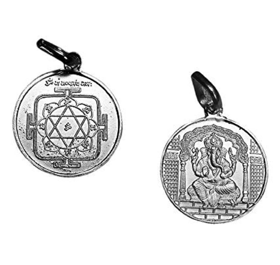 Numeroastro Shri Ganesh Yantra Pendant In Pure Silver (5.5 Grams) (1 Pc)