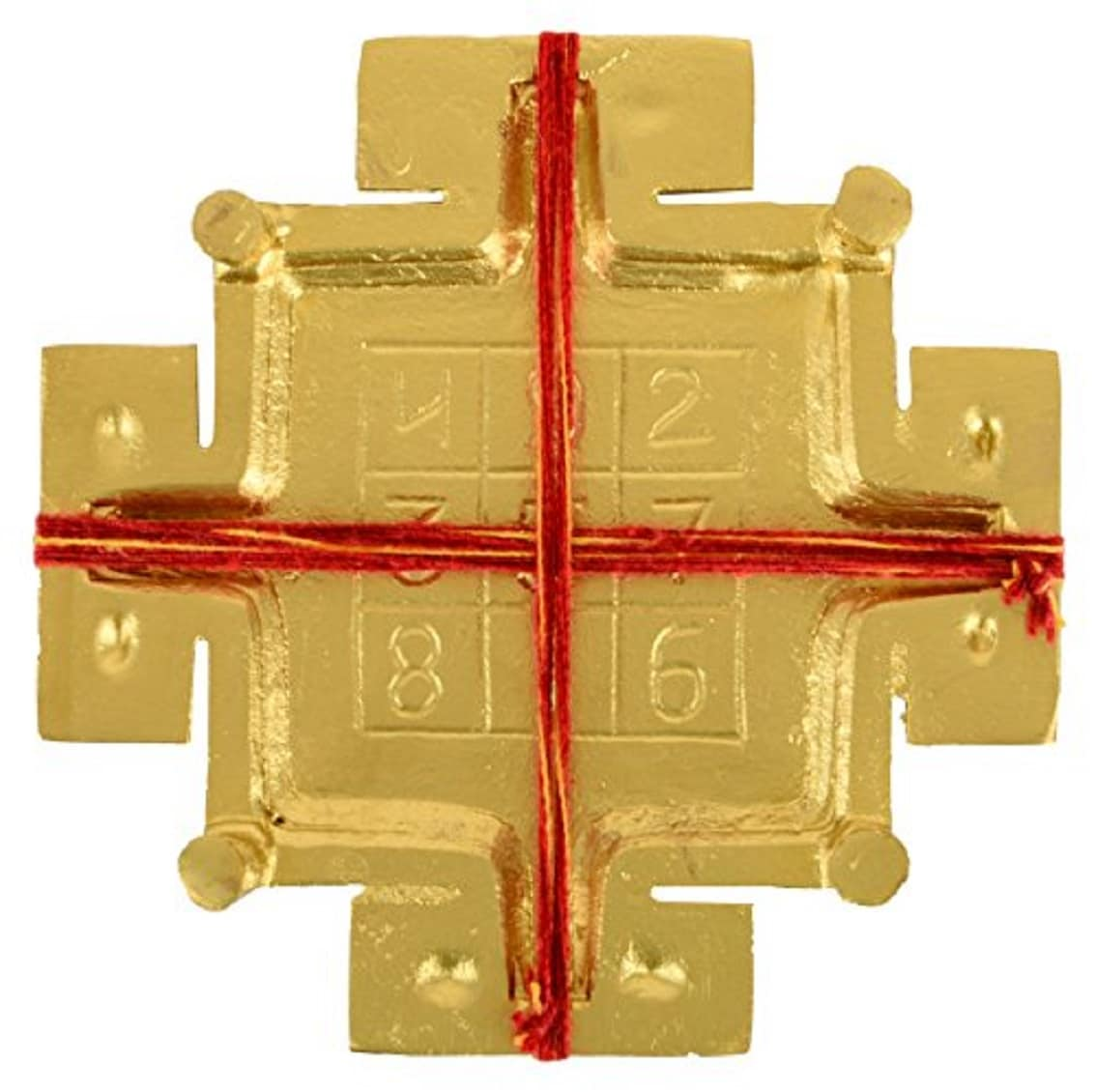 Numeroastro Sampoorna   Sampurna Mahalaxmi   Maha Lakshmi Yantra Chowki In Brass (14 Cms) (1 Pc)