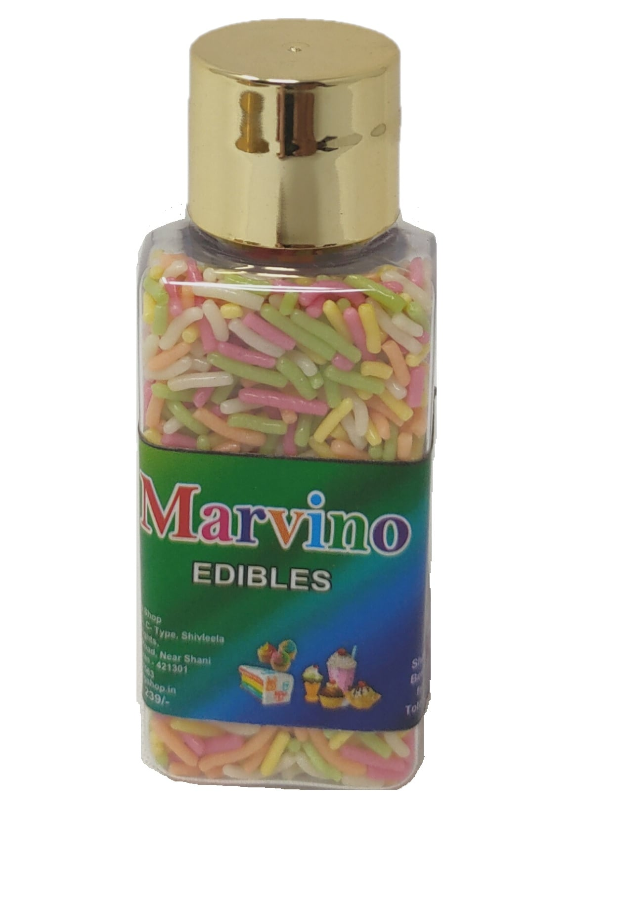 Marvino Edibles Cake And Pastries Decoration (Multi Colored Sprinkles)