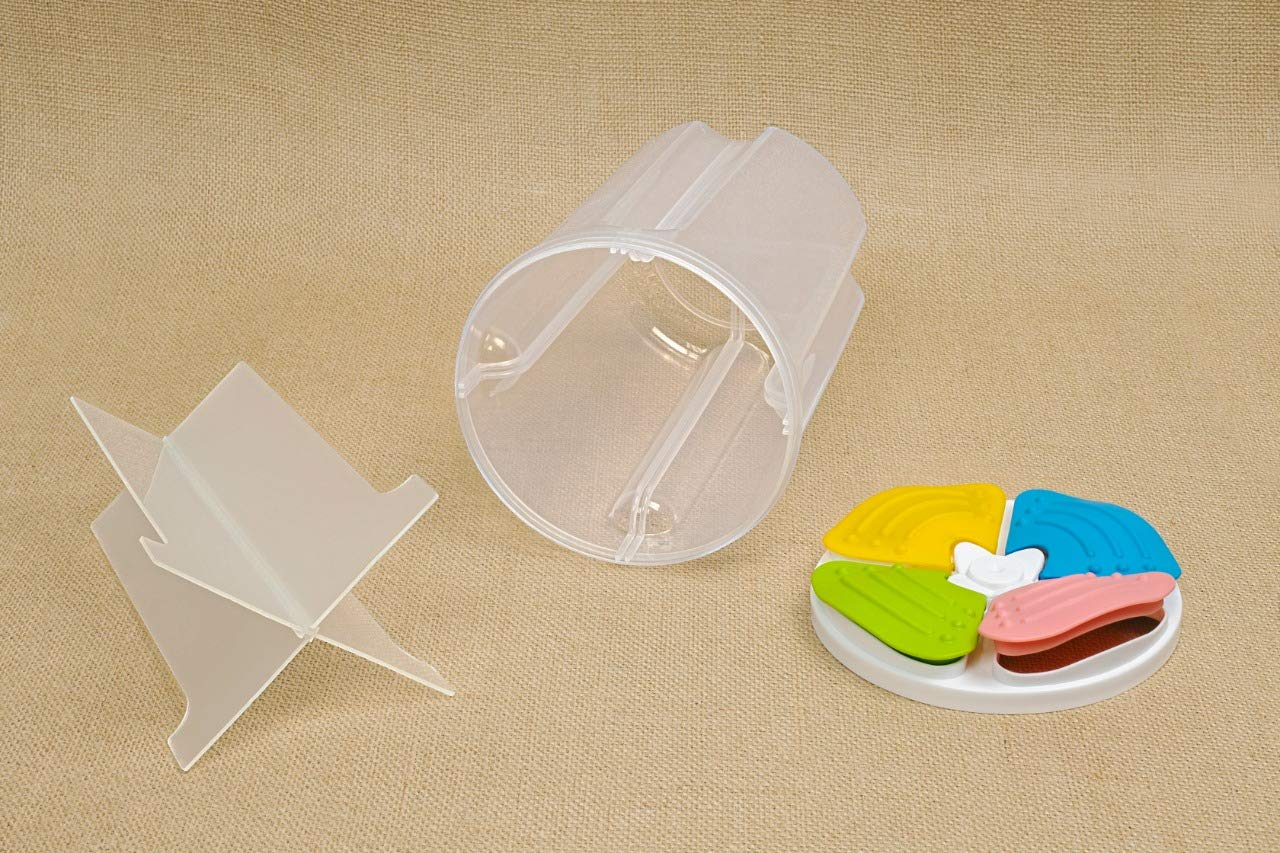 Kitchen Food Cereal Grain Rice Storage Tank Snack Container Boxes With Lid, 4 Section