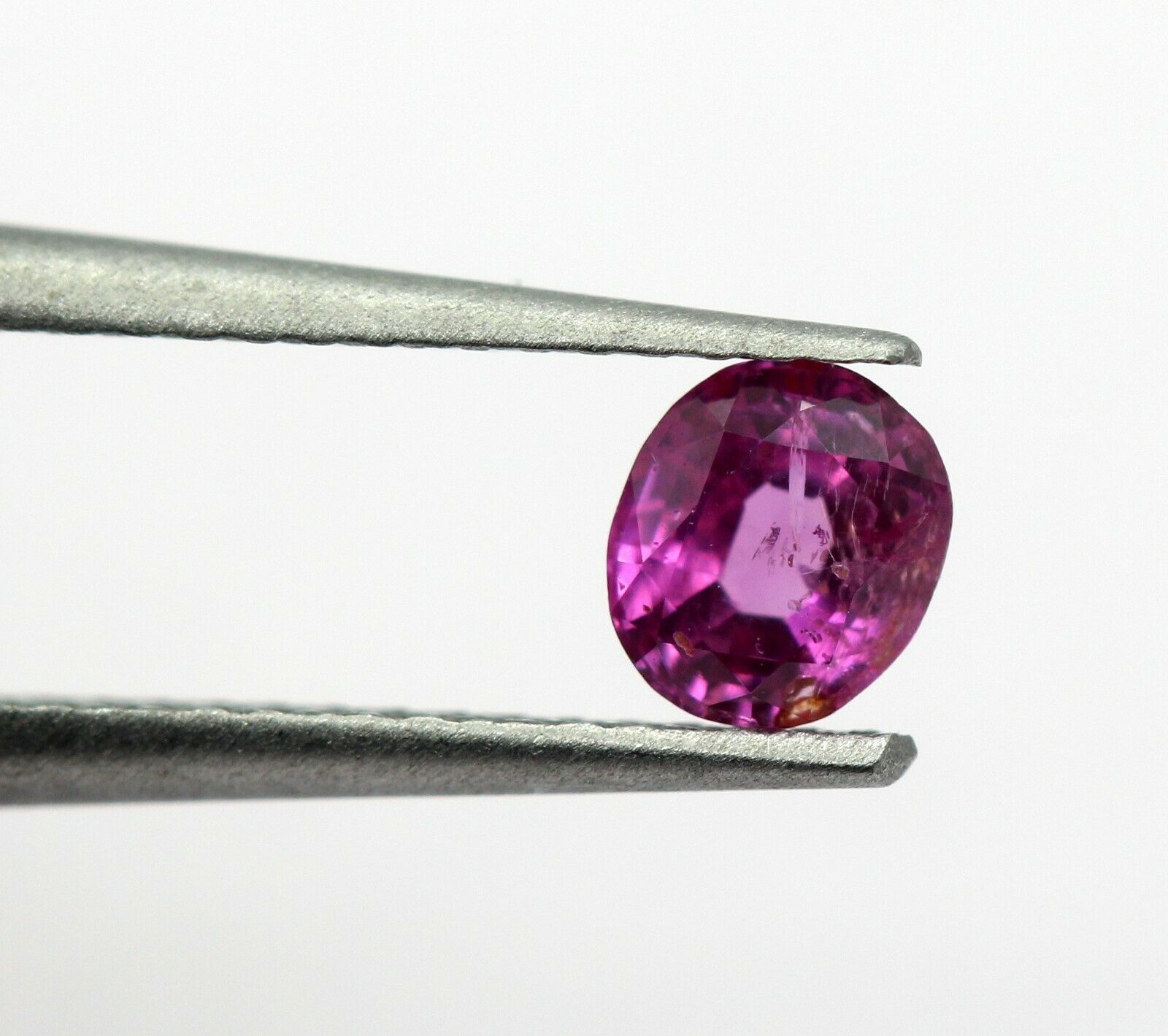 0.59 Ct Ruby Natural Sapphire Bright Red Pinkish Color Oval Mix Cut Certified