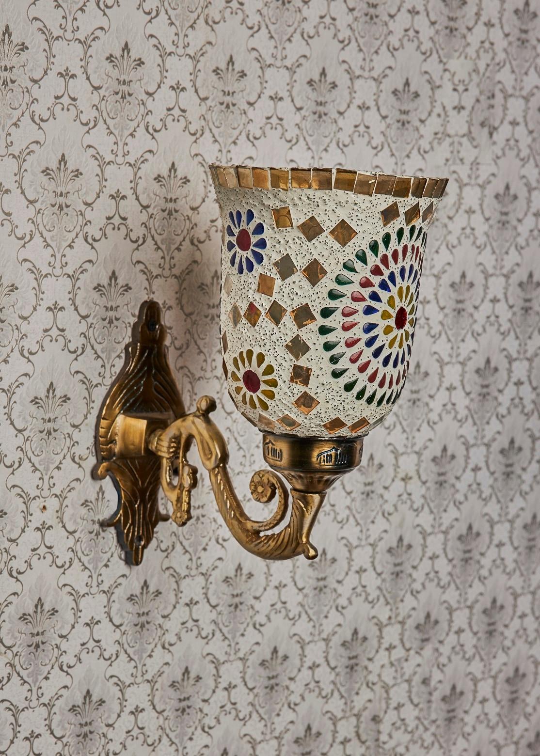 Aura Wall Light Single Head Mosaic Multicolour Customizable