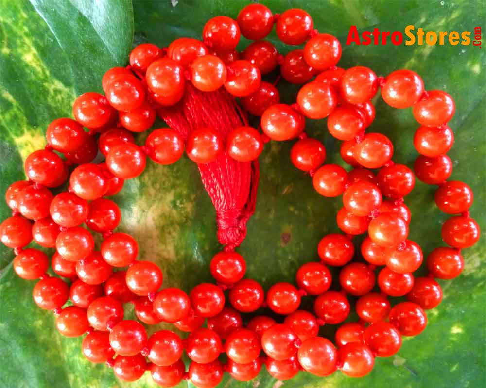 Red Coral  Mala