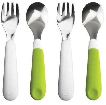 oxo tot training fork spoon set 2 sets color green feeding rh bebeworld in