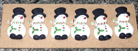 Snowman With Hat Sugarcraft