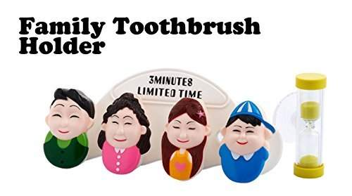 VIVA New High Quality Happy Family Home Toothbrush Suction Holder Stand Rack