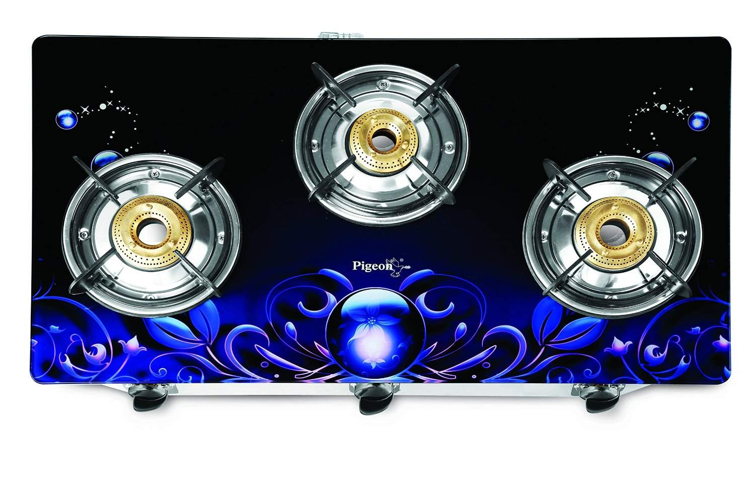 Pigeon Zeus Smart Plus 3 Burner Gas Stove Blue