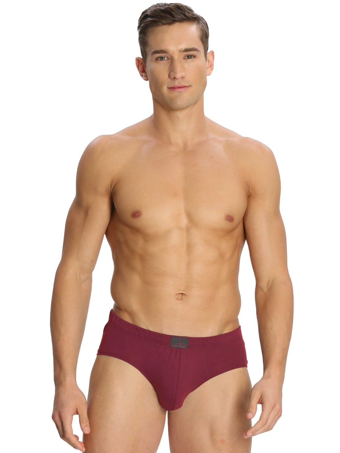 JOCKEY Poco Brief  (PACK Of 2) (XL,Red Wine)
