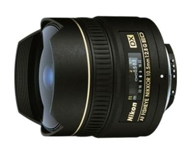 Nikon Camera Lens [AF DX Fisheye 10.5mm F2.8G ED]