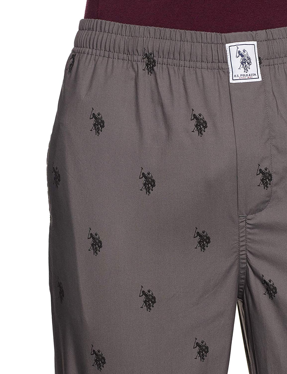 US POLO ASSN Men's Grey Lounge Pant (M,Grey)