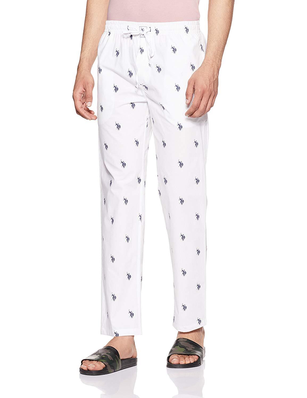 US POLO ASSN Men's White Lounge Pant (M,White)