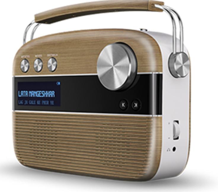 Saregama Carvaan Digital Audio Player (Walnut Brown)