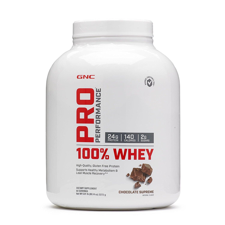 GNC Pro Performance 100% Whey-5.01lbs(Chocolate Supreme)