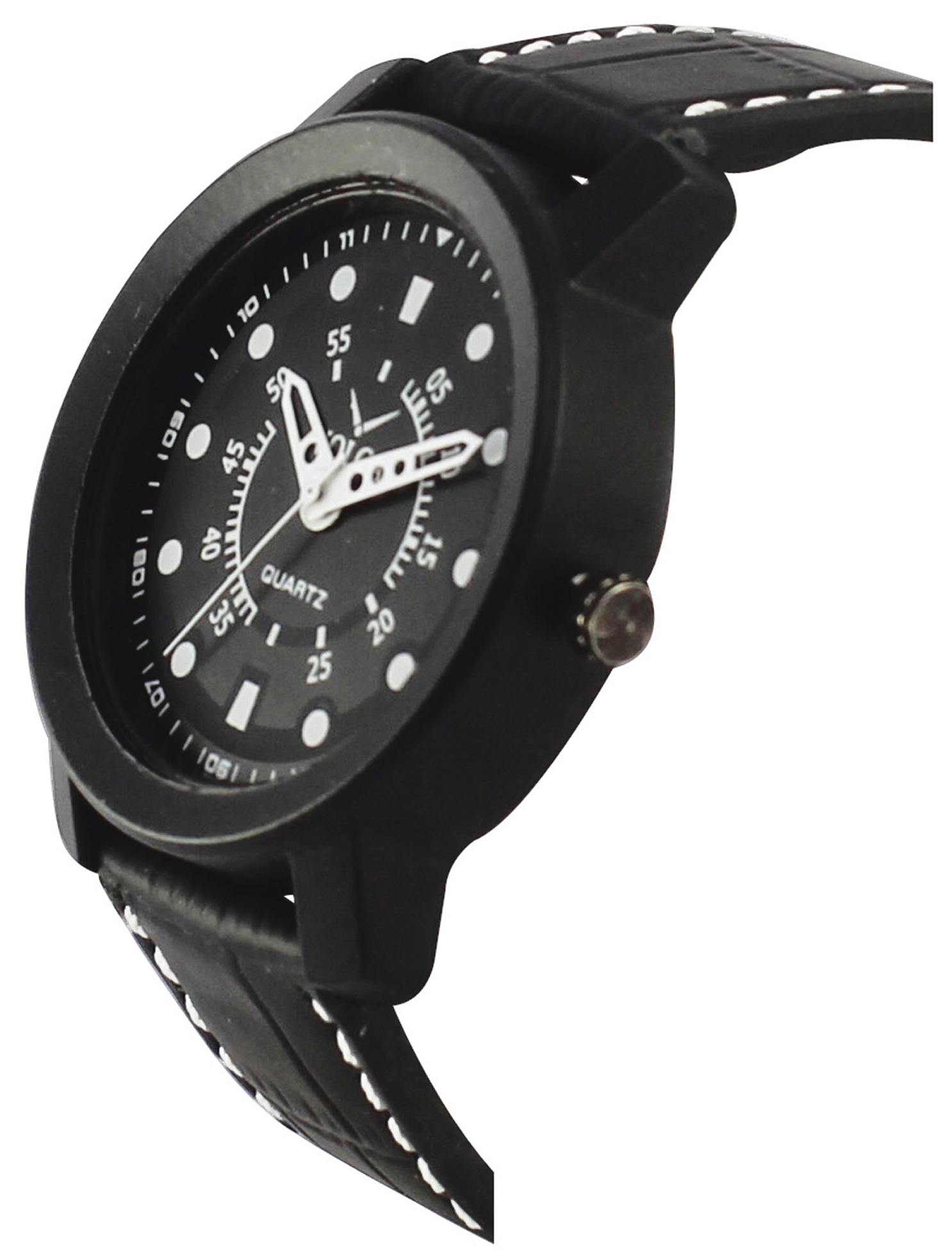New 2019 Arrival Volga Collection Quartz Movement New Professional Black Dial And Black Leather Strap Watch For Boys And Men