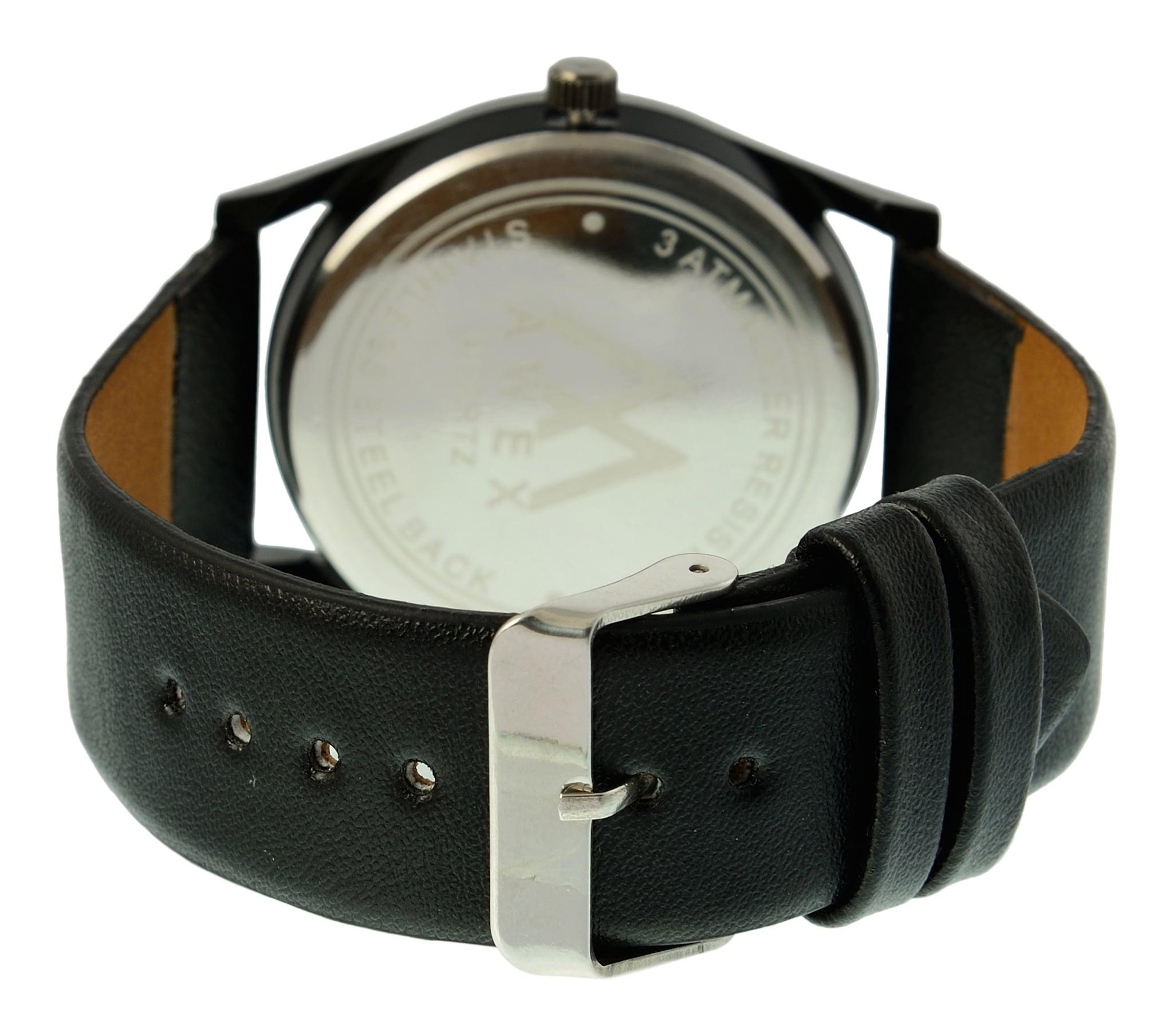 Awex Full Black Regular Timekeeping Analog Watch - For Men