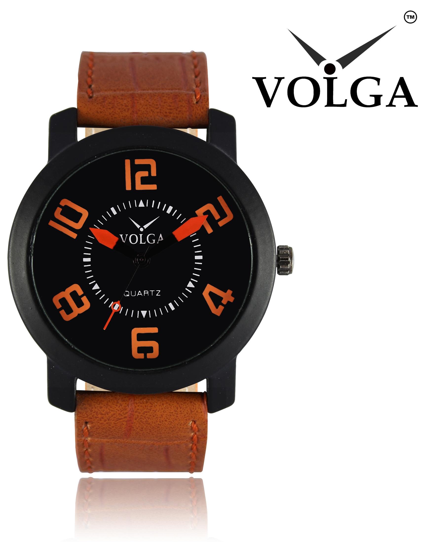 Volga Analogue Black Dial Men's Watch