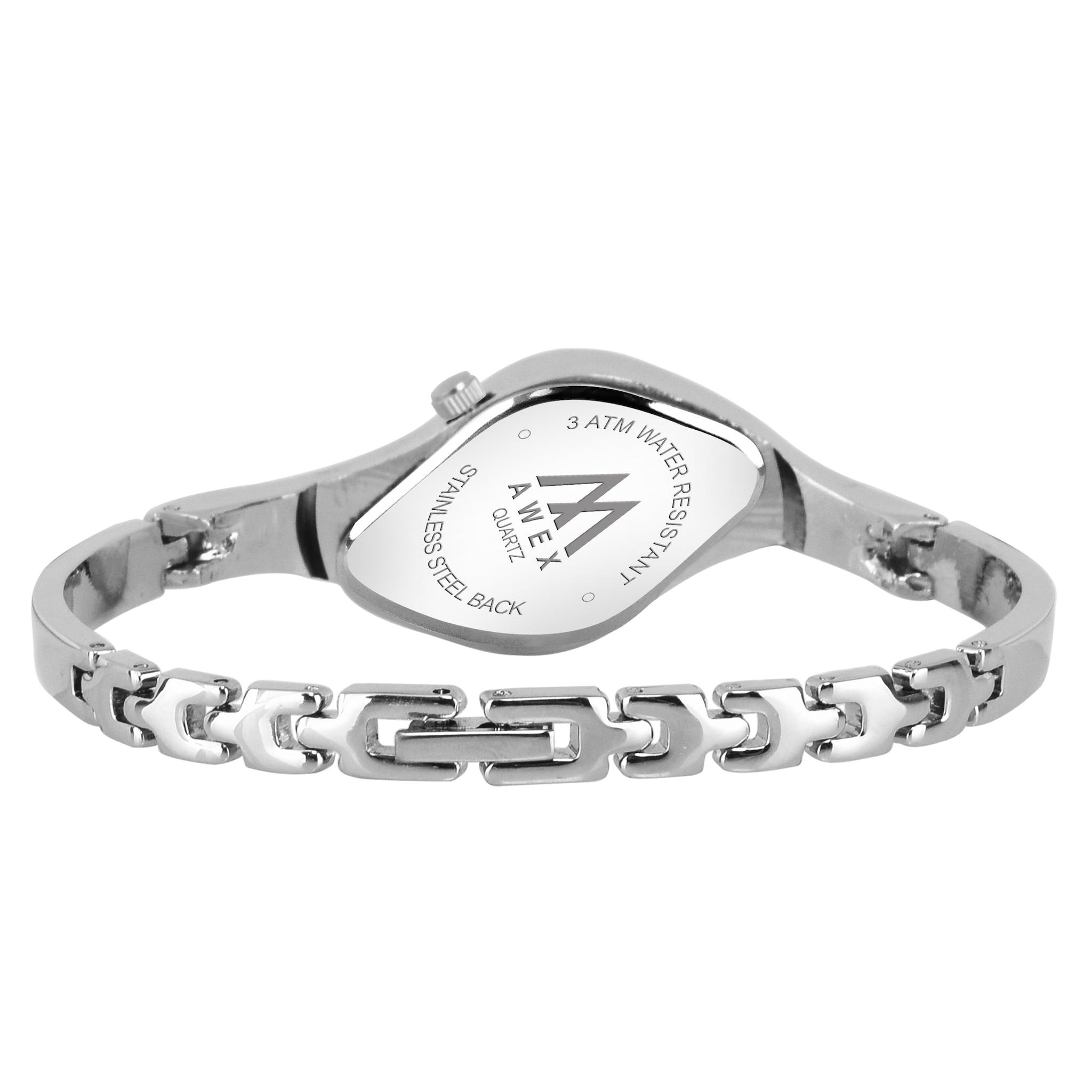 Awex Silver Sky Oval Silver Strap Analog Watch - For Women
