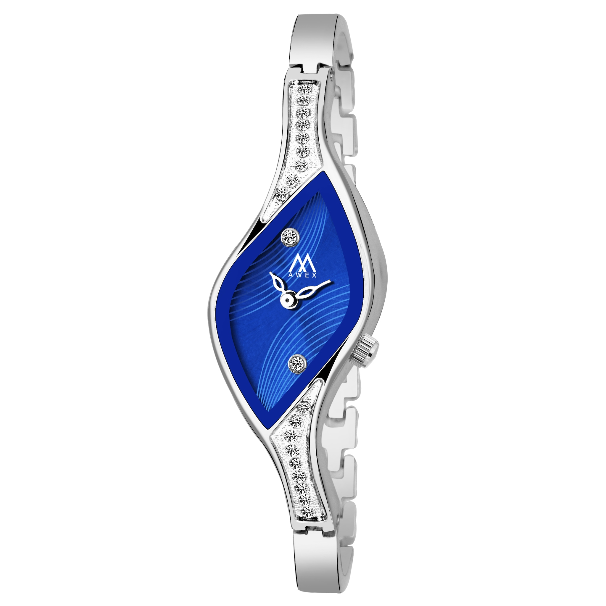 Awex  New Arrival Luxury Blue Dile With Silver Strap For Girl & Woman Analog Watch - For Women