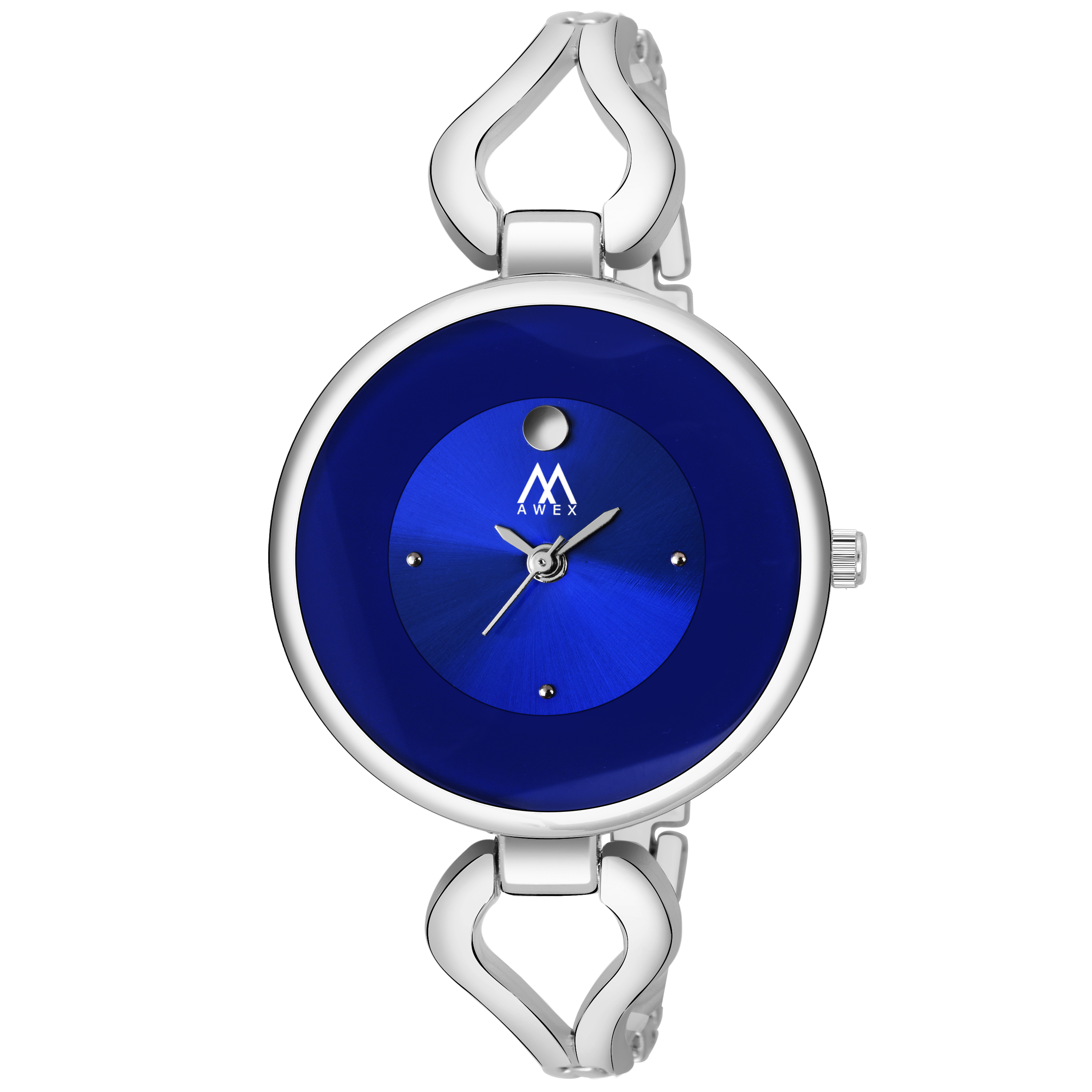 Awex Round Dail Slim Elegant Bracelet Strap Analog Watch - For Women