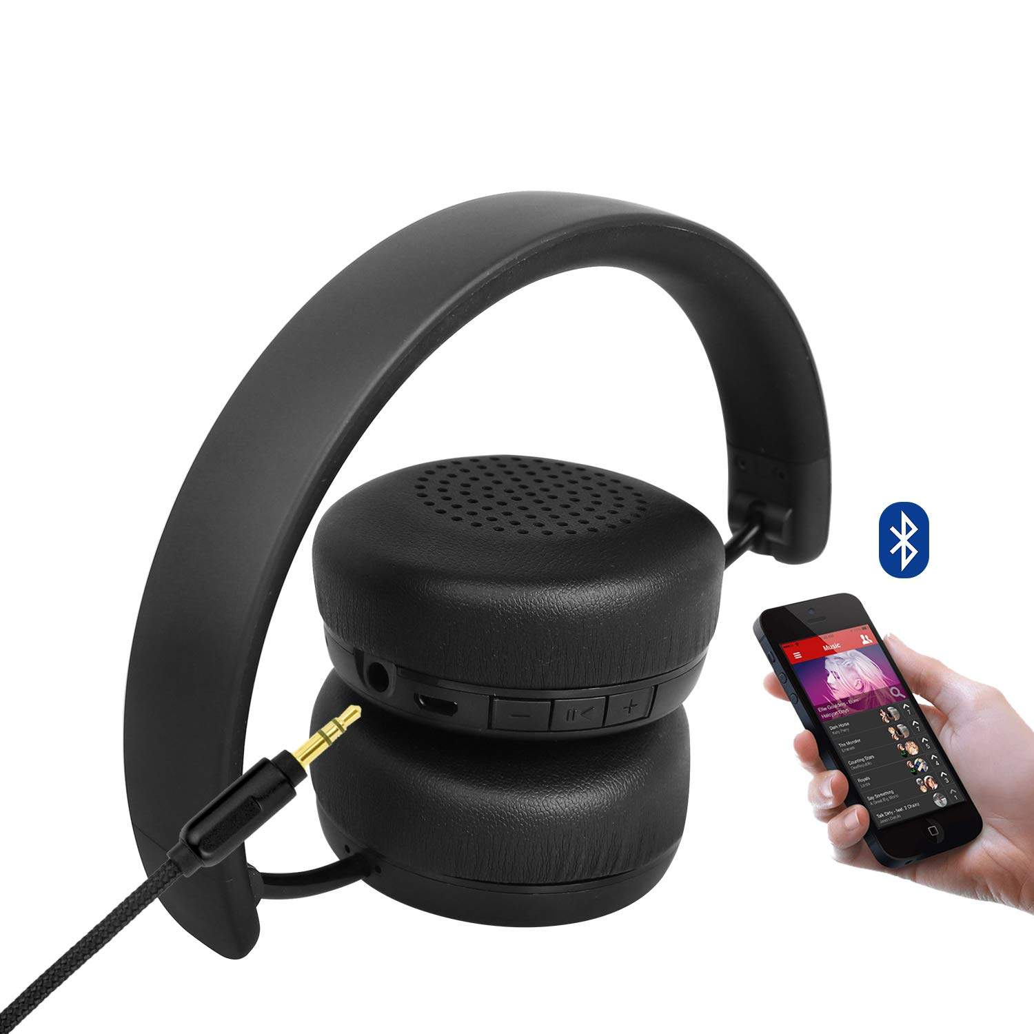 Boat Rockerz 440 Wireless Bluetooth Headset With In-Built Mic (Carbon Black)