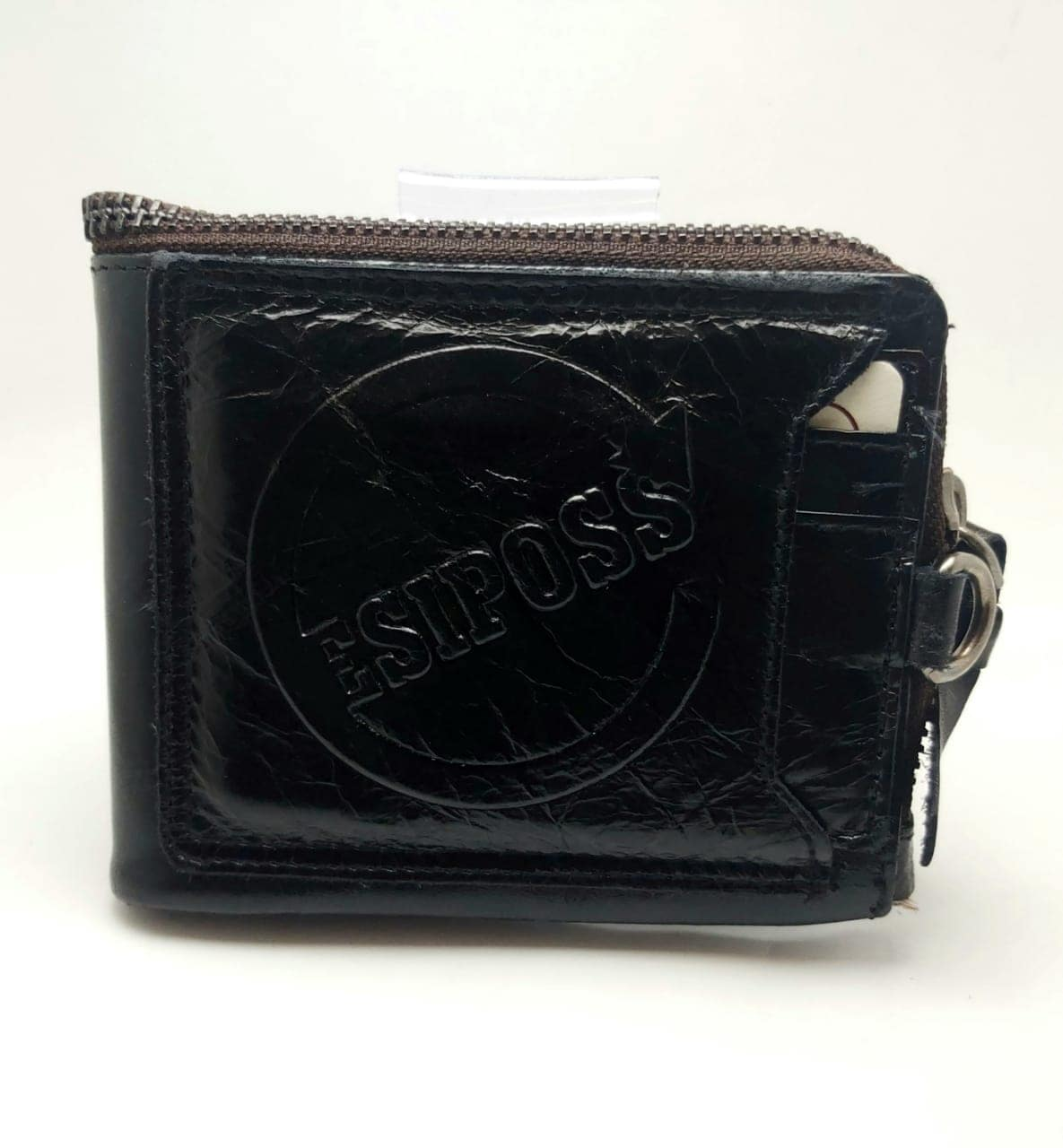 ESIPOSS Wallet EP01 Men Genuine Leather Men Purse Vintage With Zipper Coin Pocket Famous Brand Designer Wallets For Men Money Bag