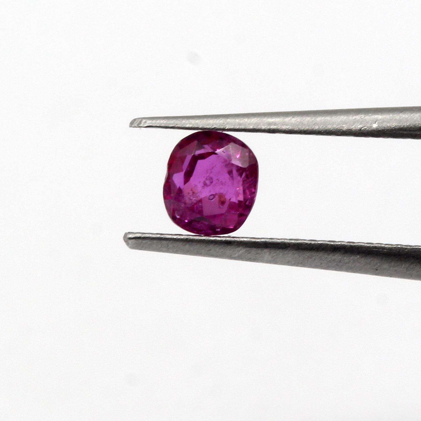 0.53 Ct Ruby Natural Burma Gemstone Cushion Cut Excellent Luster Certified