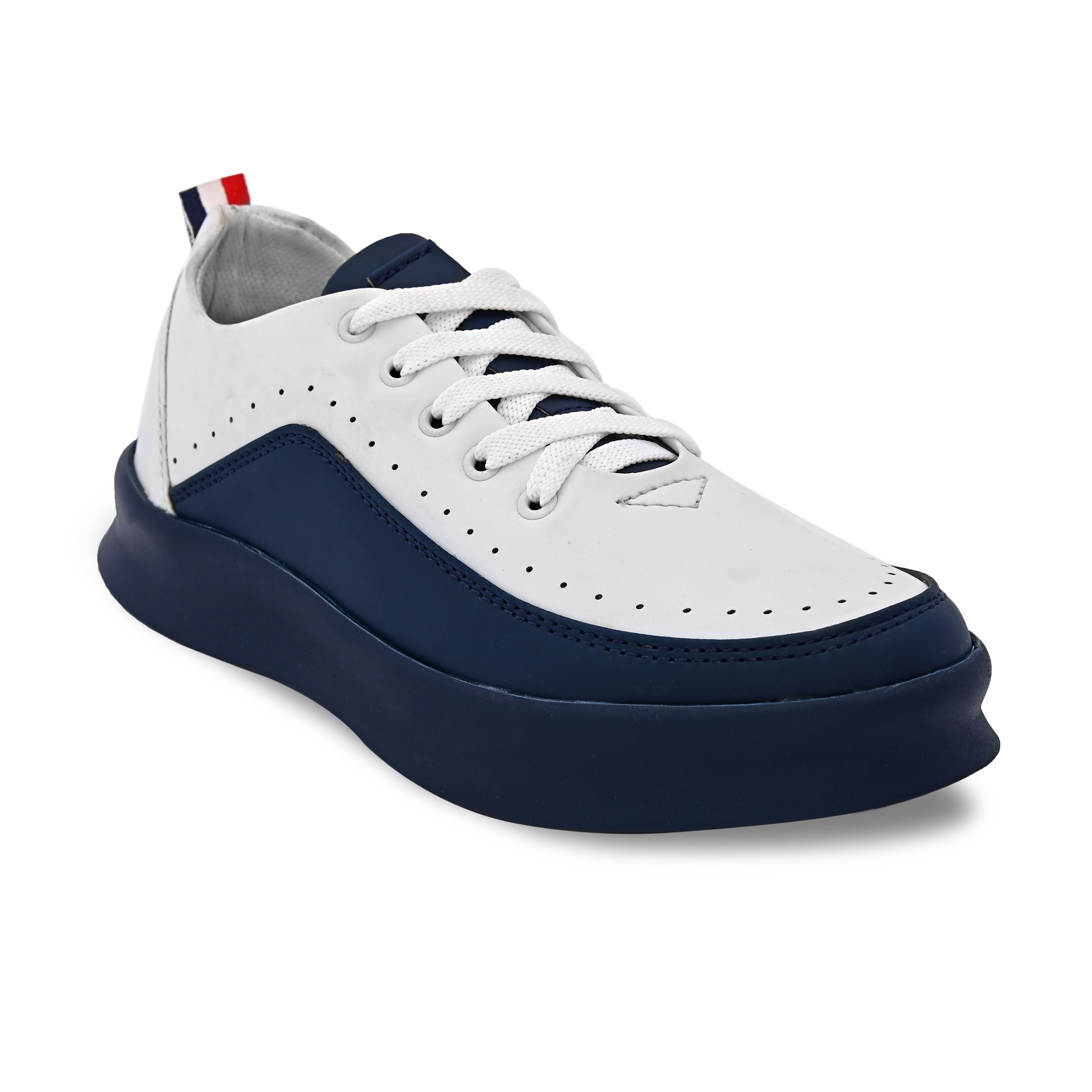 Almighty White Sneaker Sports Shoes (White, 6-10, 8 PAIRS)