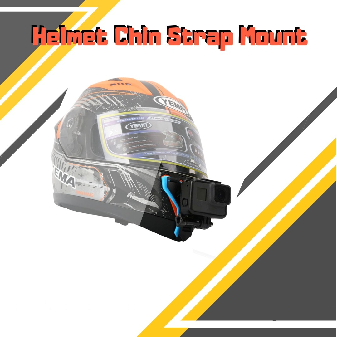 ACTION CAMERA CHIN STRAP MOUNT With J Hook