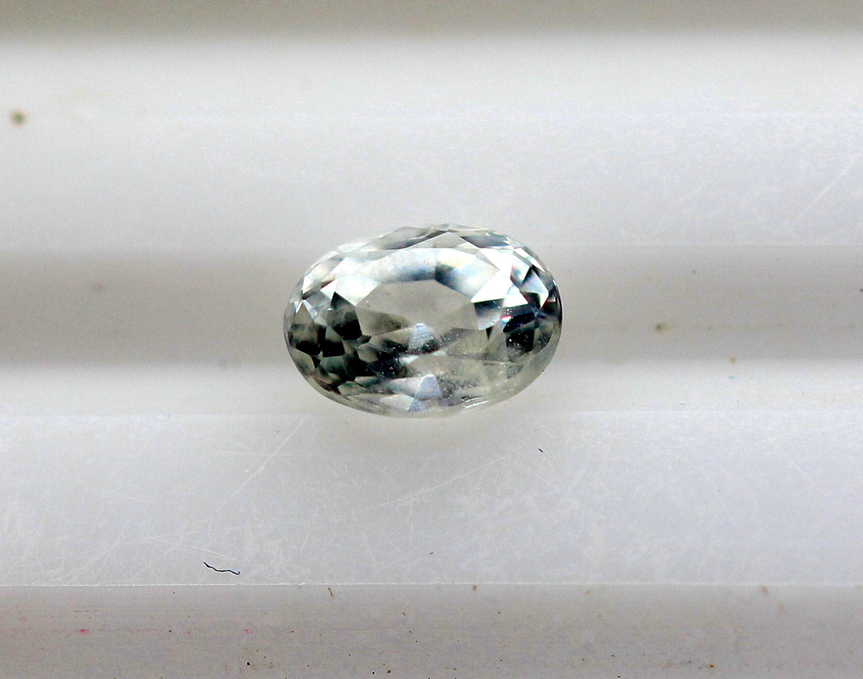 0.75 Ct White Sapphire Natural Gemstone Oval Shape Excellent Luster Sri Lanka Certified