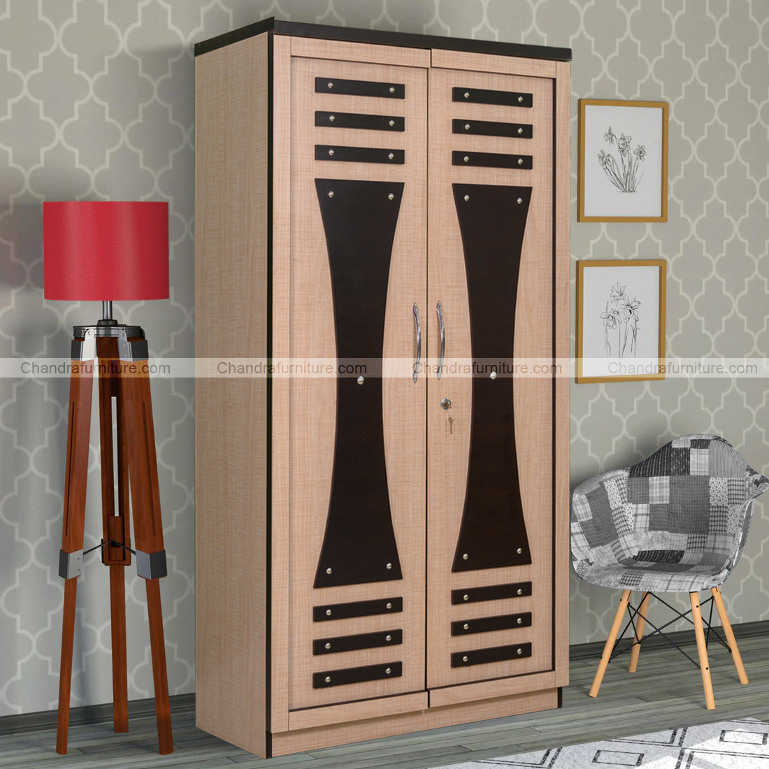 "CHANDRA FURNITURE TWO DOOR WARDROBE ""CLS-WDR-04"""