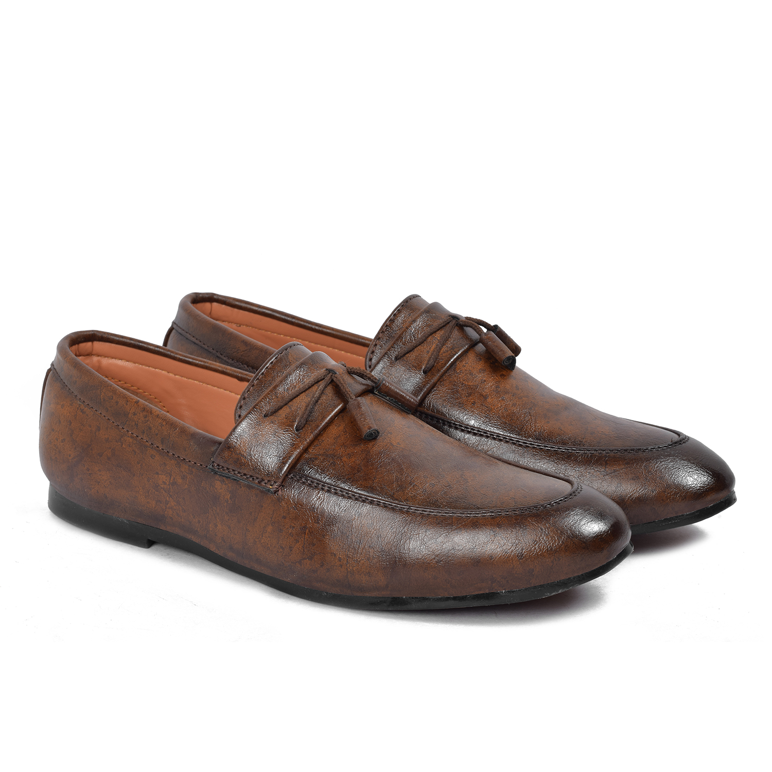 Tango Shoes Stylish Men's Loafers 1103BROWN (BROWN, 6-10, 8 PAIR)