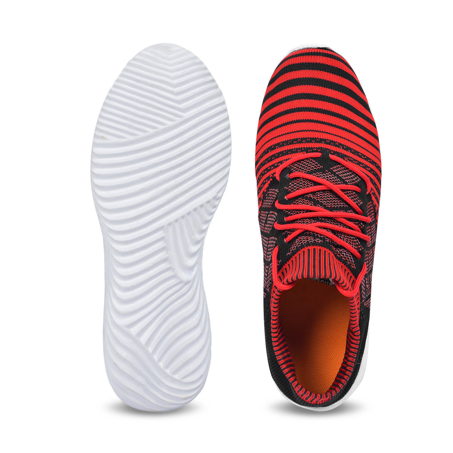 Tango Shoes Trendy Stylish Men's Sports Shoes 1002RED (RED, 6-10, 8 PAIR)
