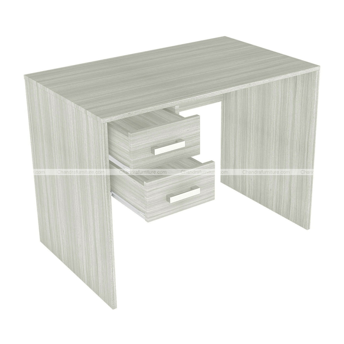 Chandra Furniture Yumi Study Desk With Drawers In White Finish