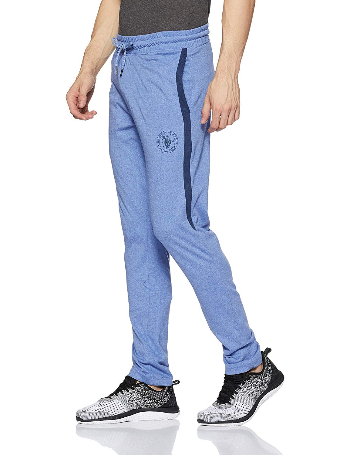 US POLO ASSN Men's Track Pant (L,Blue Melange)