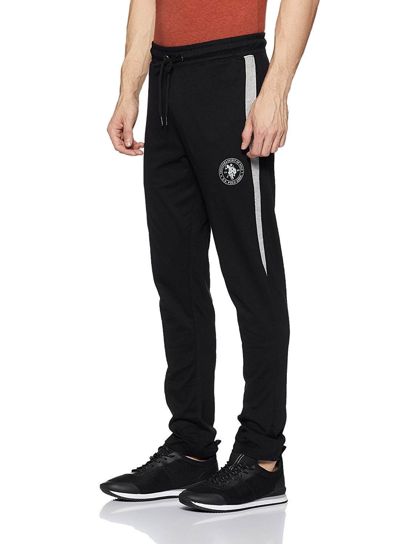 US POLO ASSN Men's Track Pant (M,Black)