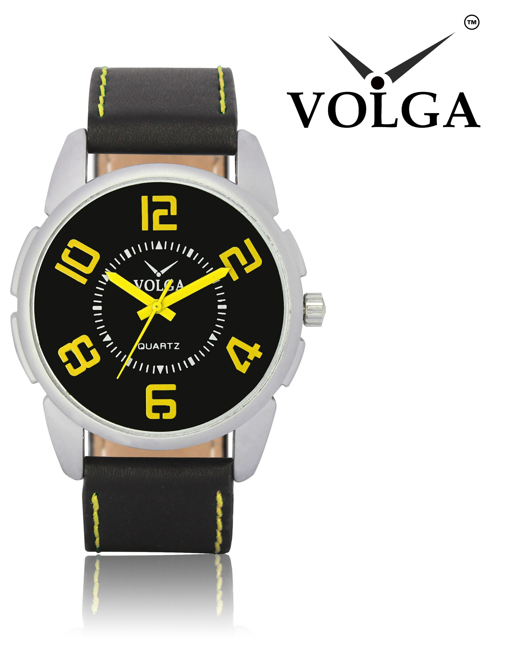 New Arrival Stylish And Professional Analogue Black Dial Black Leather Belt Special Volga Watch For Boys And Men