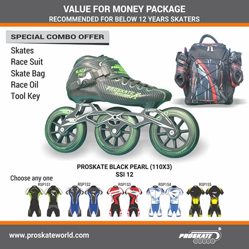 PROSKATE BLACK PEARL EXCL. 110MMX3 SSI  12 COMBO A (J12)