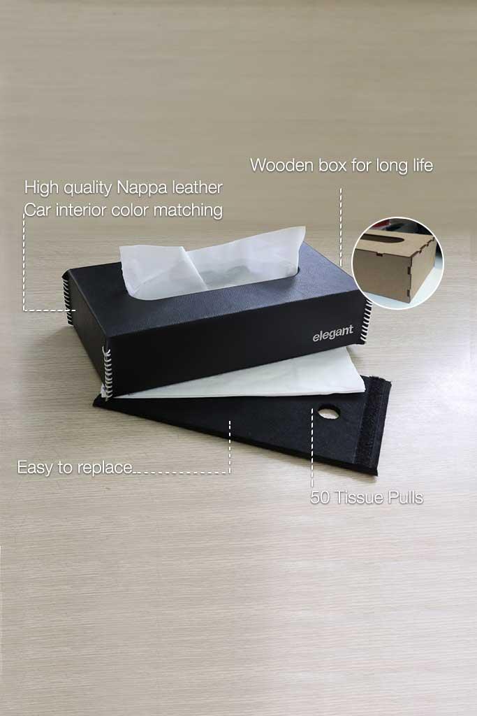 Elegant NAPPA TISSUE BOX BLACK/WHITE