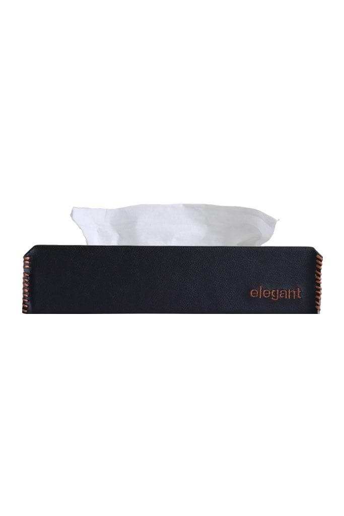 Elegant NAPPA TISSUE BOX TAN/BLACK