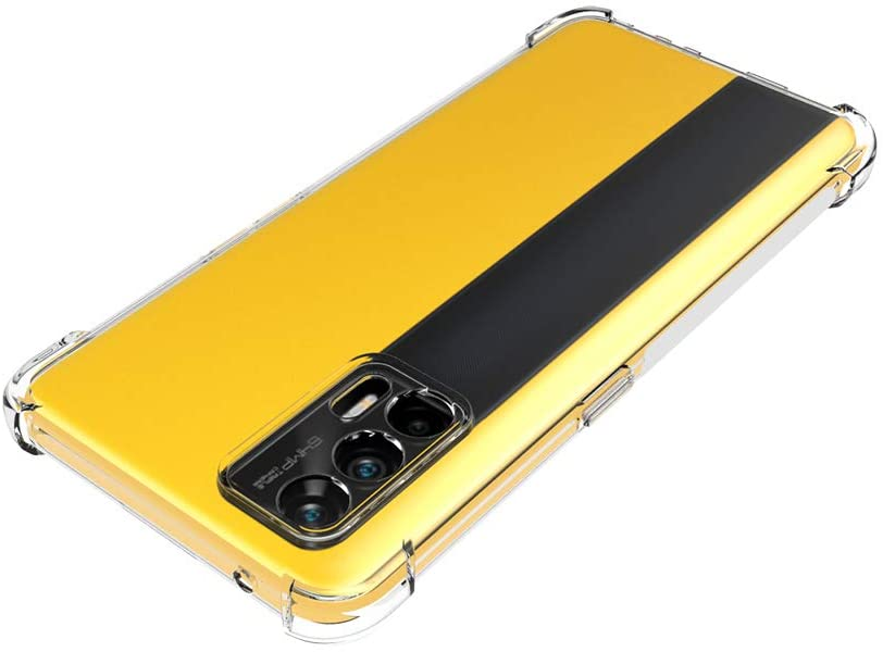 Soft Edge Bumper With Reinforced Corners Transparent Protective Cover ForRealme GT Neo Slim Shock Absorption TPU
