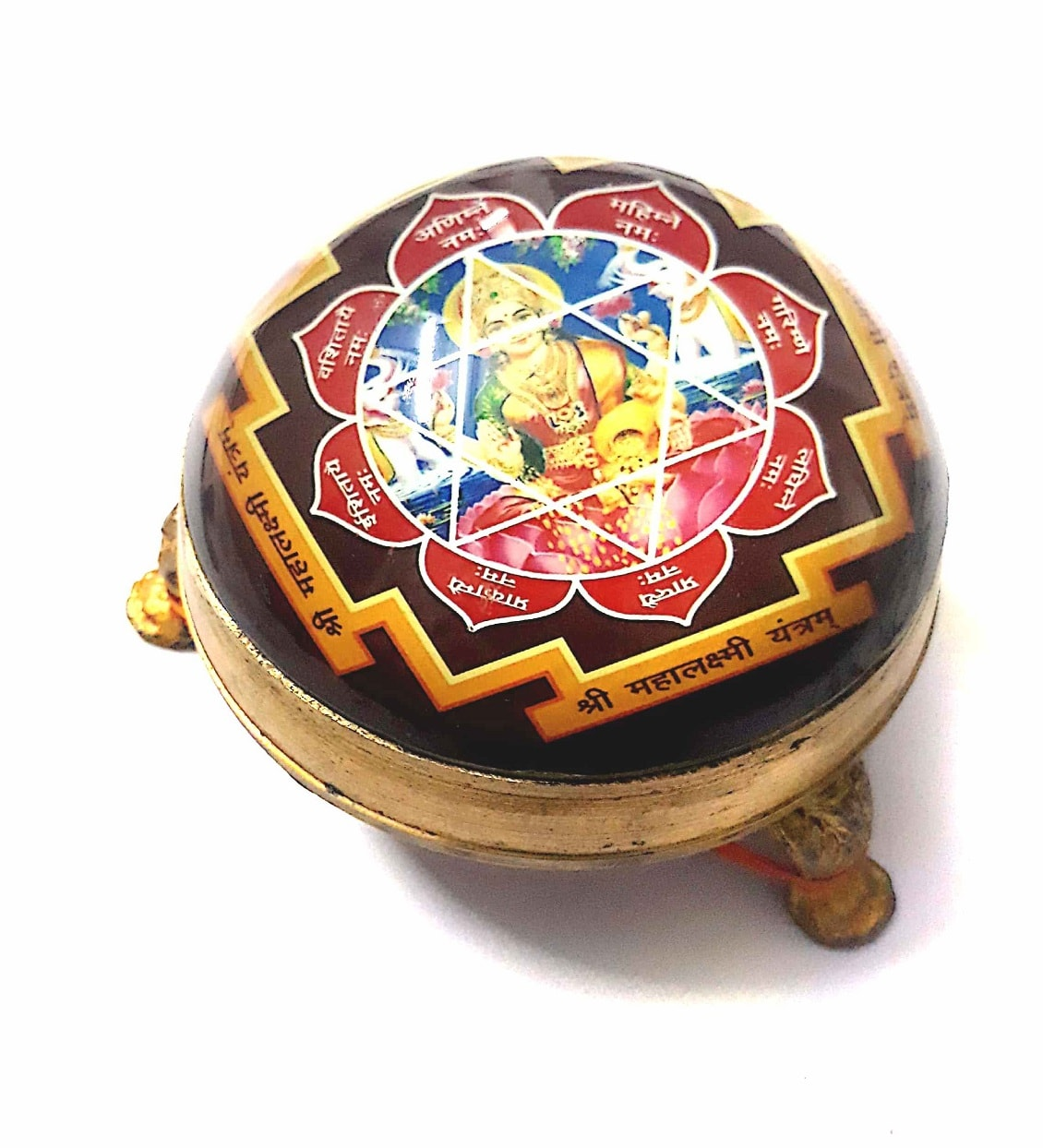 Numeroastro Shri Mahalaxmi Yantra In Brass Table Top Yantra (8 Cms) (1 Pc)