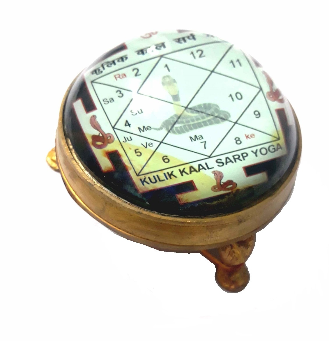Numeroastro Kaal Sarp Yantra In Brass Table Top Yantra (8 Cms) (1 Pc)